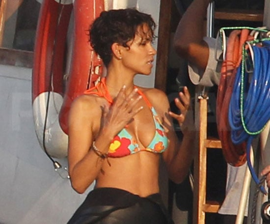 Slide Picture of Halle Berry in Bikini on Dark Tide Set in South Africa