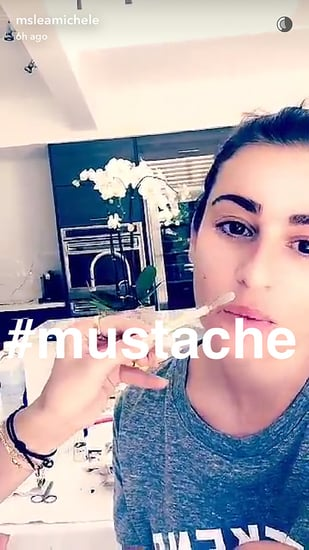 Lea Michele Gets Real About Her Mustache on Snapchat