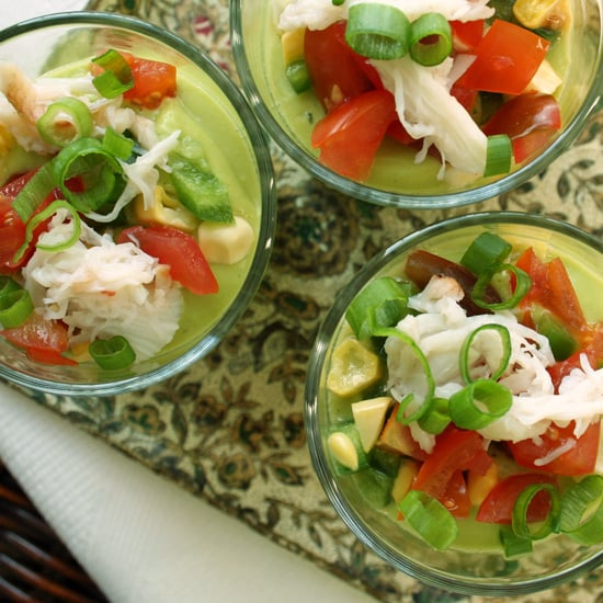 Chilled Corn and Avocado Soup