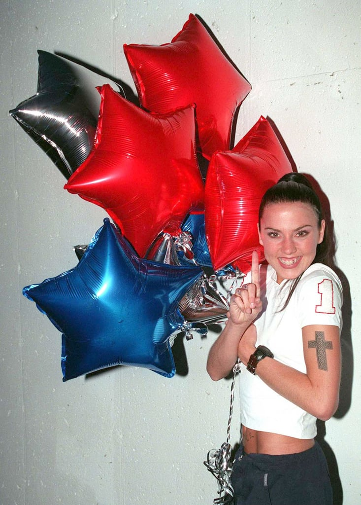 Melanie C celebrated the Spice Girls' seven No. 1hits in January 1998 in NYC.