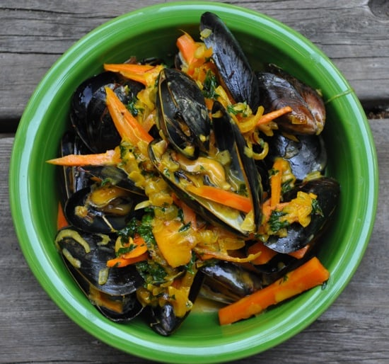 Mussels with a Saffron Cream Sauce