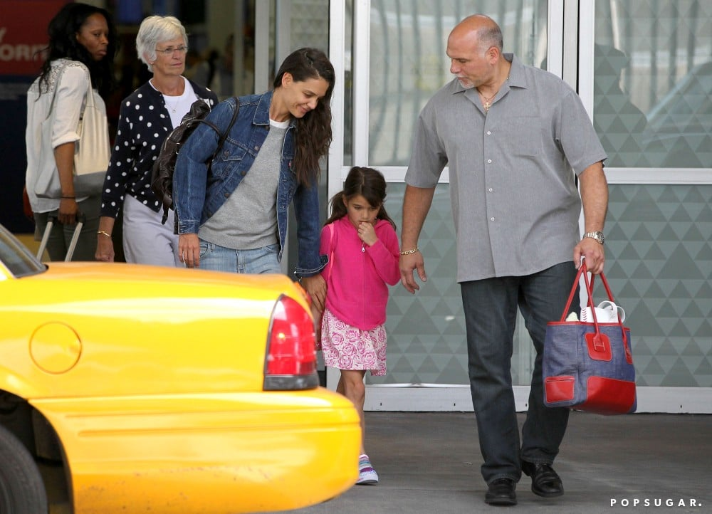 Katie Holmes and Suri Cruise arrived in NYC together ahead of Tom Cruise's birthday.