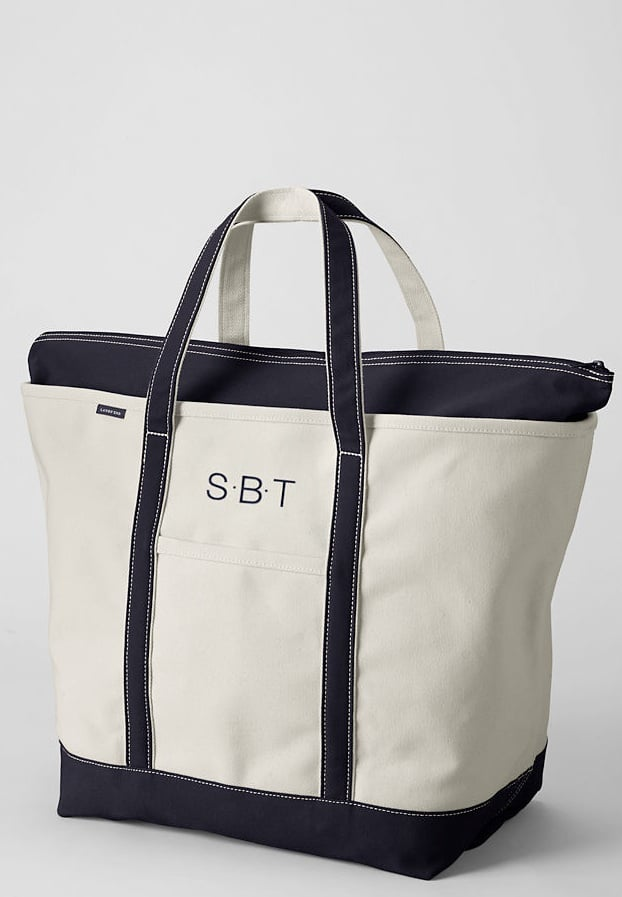 Land's End Natural Zip Top Canvas Tote Bag ($40)