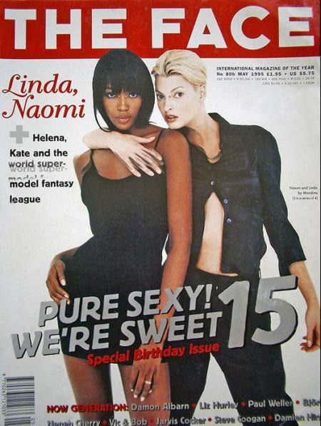 May 1995: Naomi Campbell and Linda Evangelista