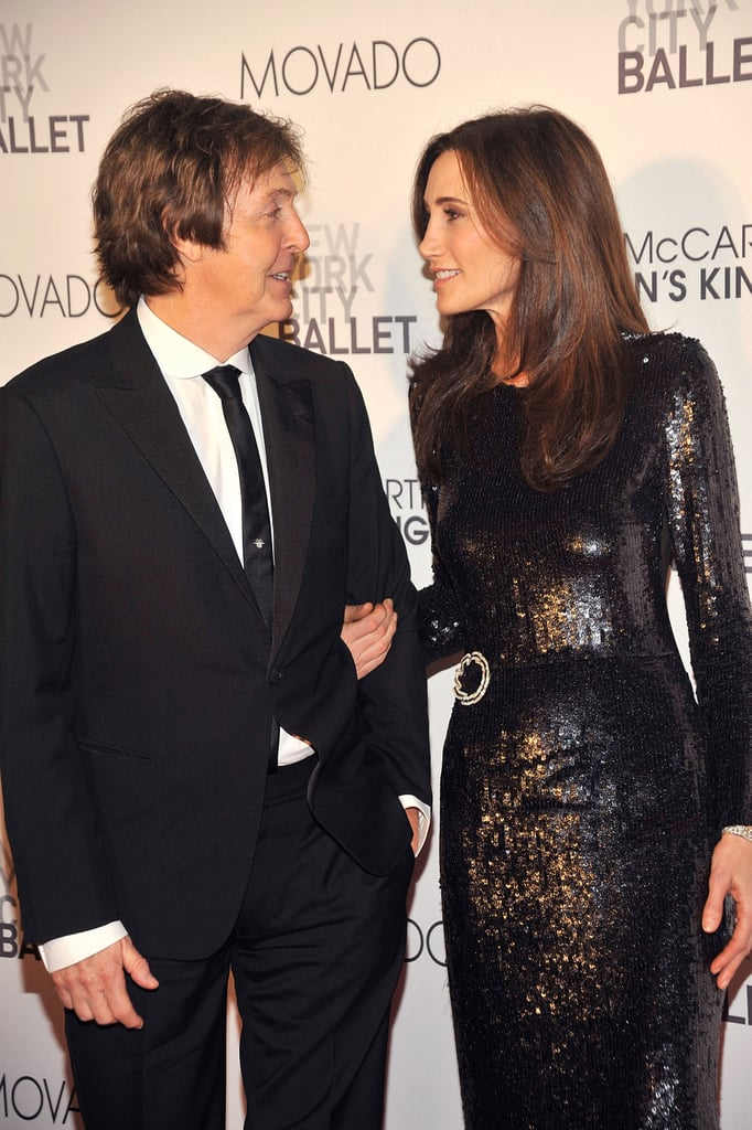 Nancy Shevell and Paul McCartney at the NYC ballet.