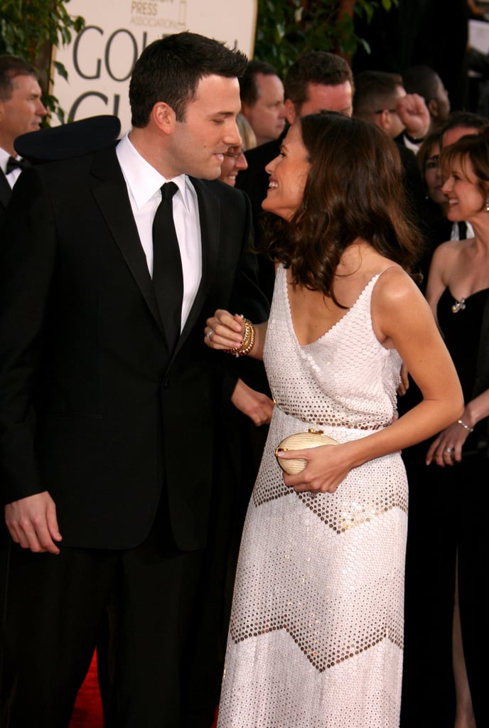 The couple shared a sweet moment on the red carpet at the Golden Globes in January 2007.