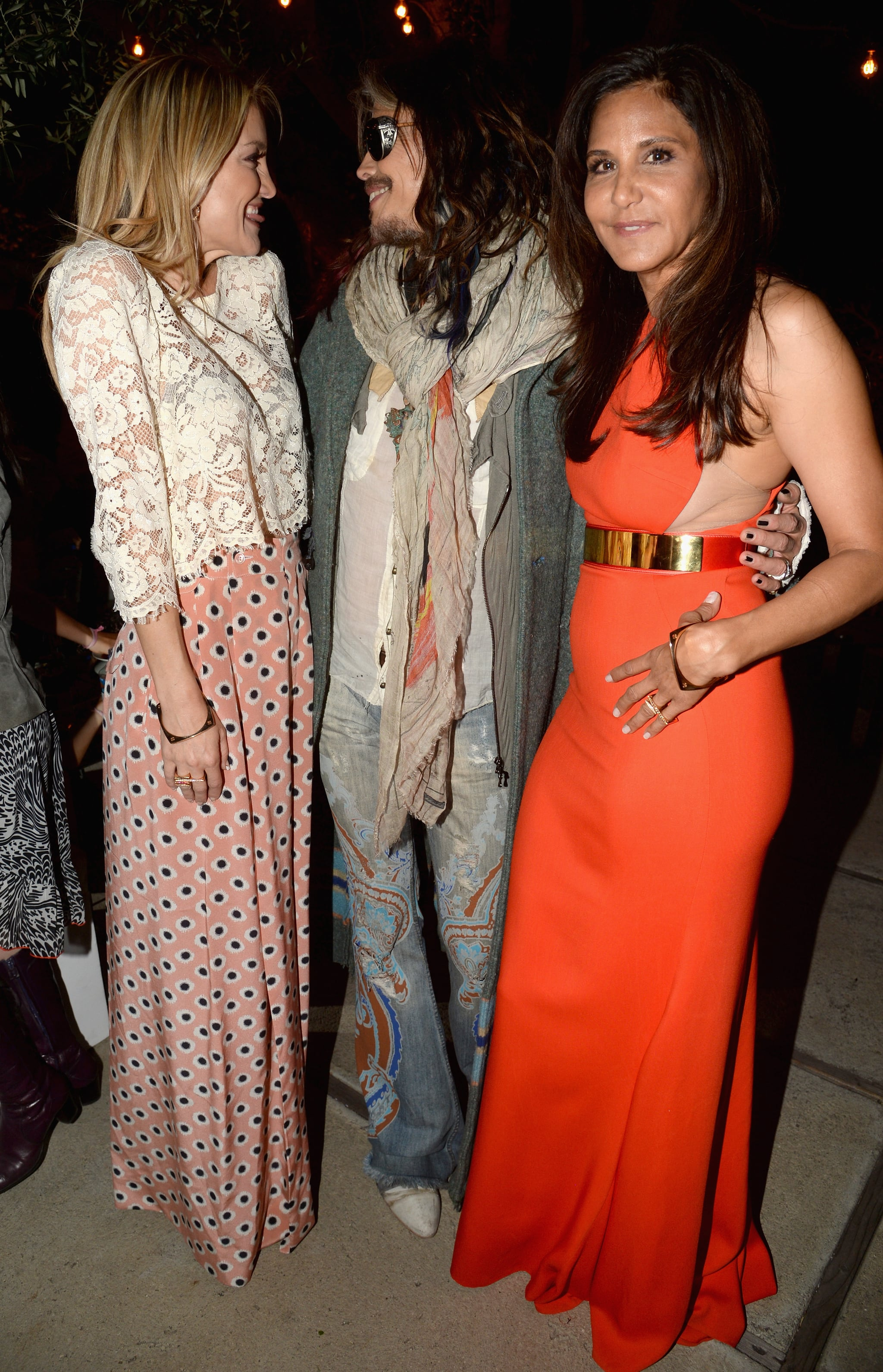 Kate had a moment with Steven Tyler and Laurie.