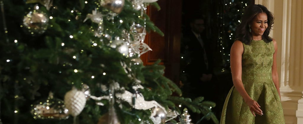 Michelle Obama's Holiday Outfit Is on Point, but Not Obvious