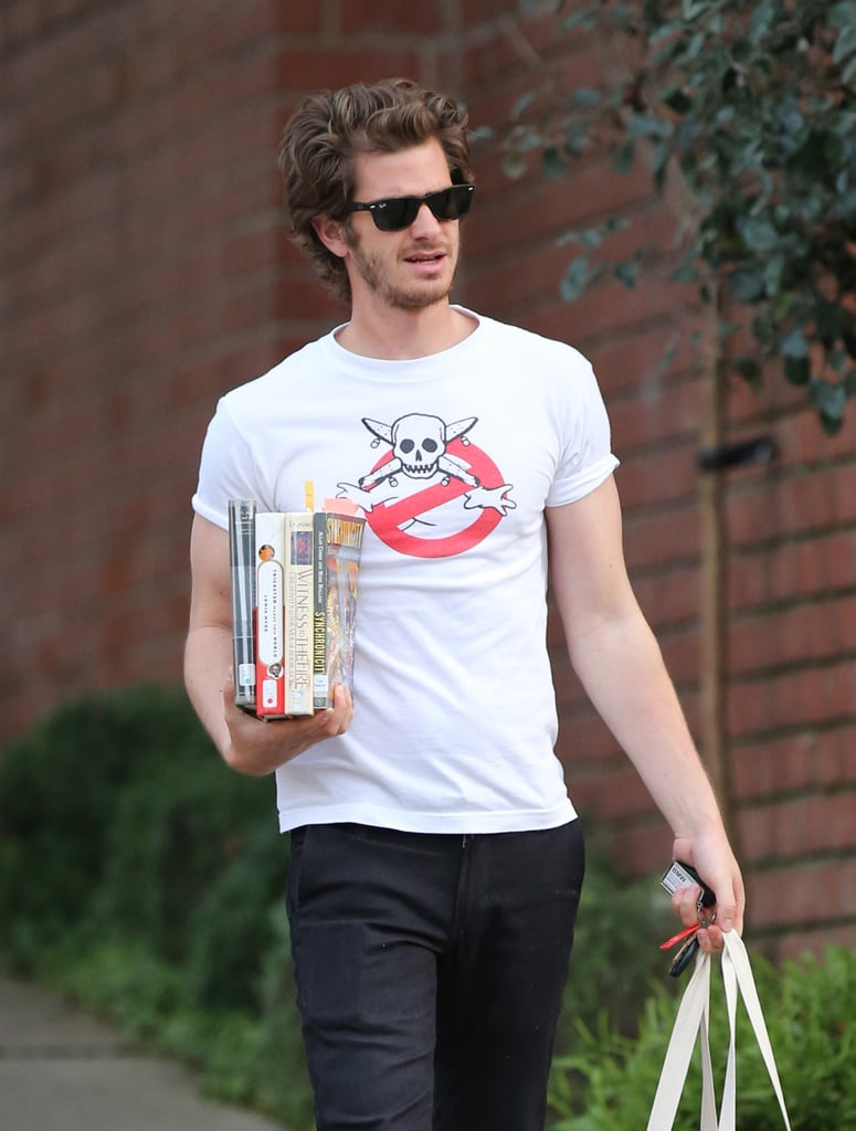 Andrew Garfield Picks Up Some Serious Reading Material in LA