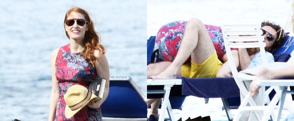 Jessica Chastain Shows Major PDA With Her Italian Boyfriend