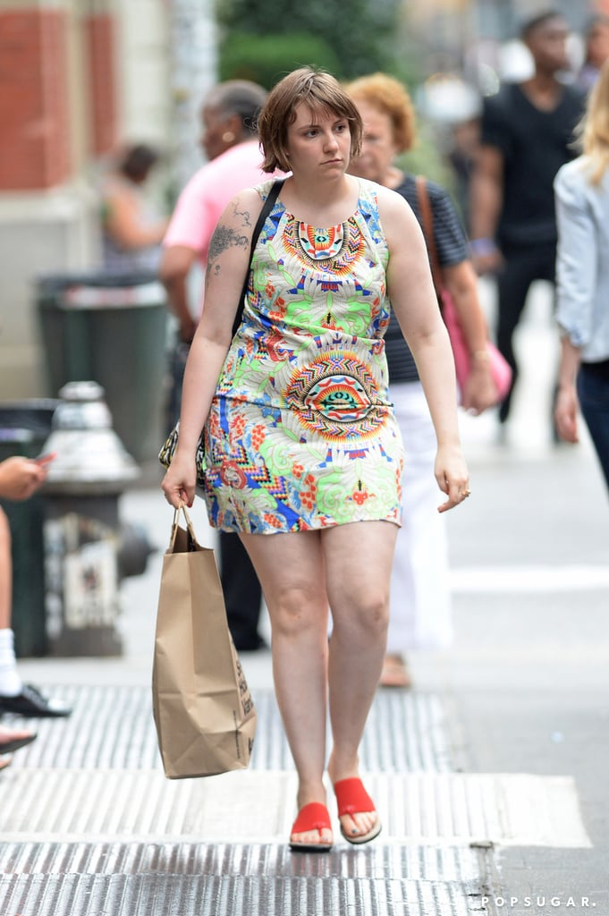 Lena Dunham went shopping in NYC on Friday.