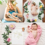 These Photos of a Newborn Crowned With Fresh Flowers Are Everything