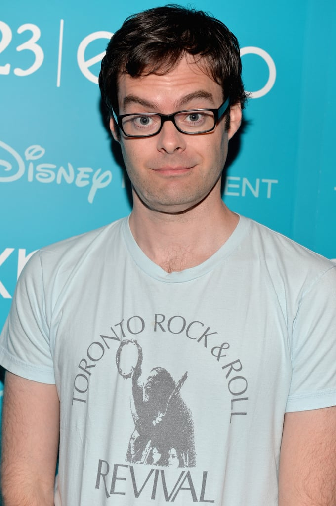 Bill Hader made a funny face at Disney's D23 Expo.