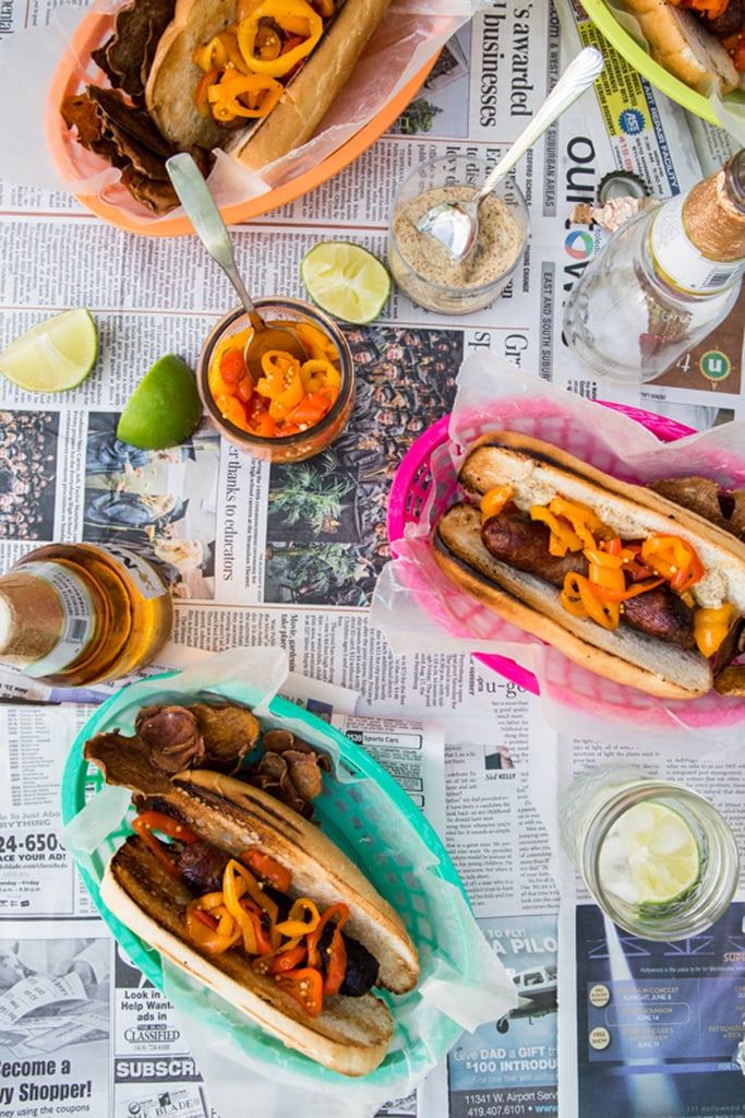 Beer Brats With Pepper Relish
