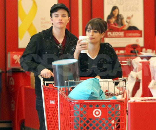 Slide Picture of Lea Michele and Chris Colfer Shopping at Target