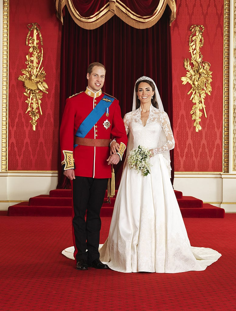 Prince William and Kate also had official portraits taken.