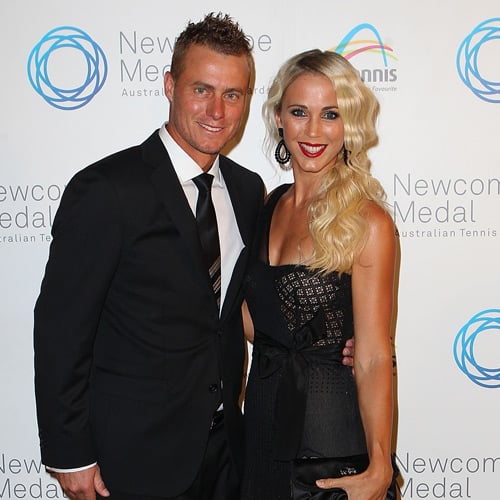 Lleyton and Bec Hewitt, Samantha Stosur Pictures at 2011 Australian Tennis Awards Newcombe Medal