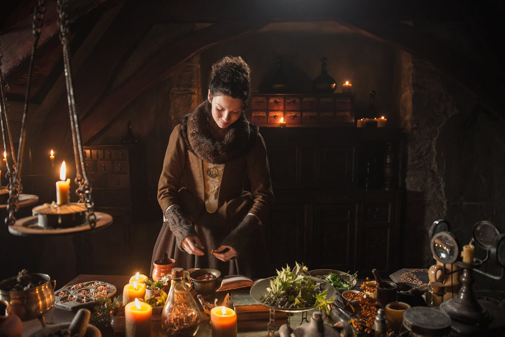Claire finds her place as a healer in the castle. Courtesy of Starz