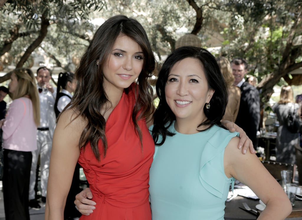 Nina Dobrev teamed up with Us Weekly editor Janice Min on Wednesday at the 25 Most Powerful Stylists Luncheon in LA.