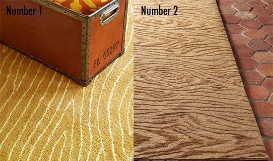 Less or More: Faux Bois Rugs