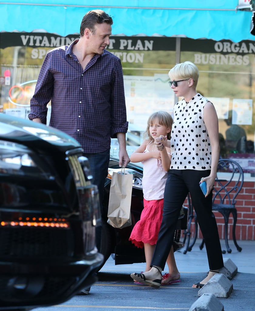 Michelle Williams, Matilda Ledger, and Jason Segel hung out in LA.