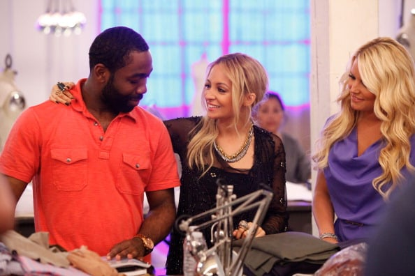 Nicole Richie and Jessica Simpson stopped by the Fashion Star studios to visit finalist Nzimiro Oputa in August 2011.