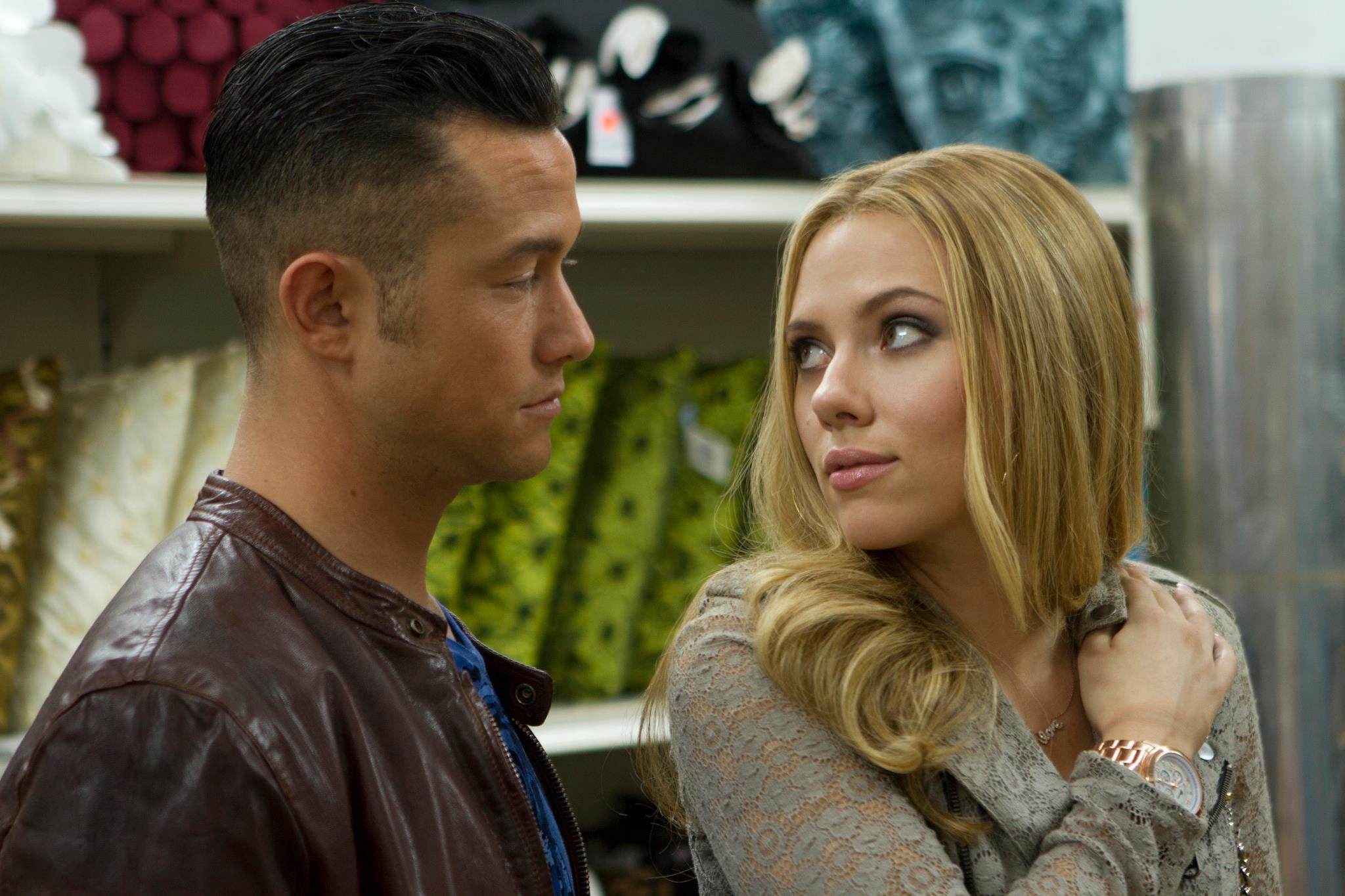 Don Jon  What it's about: New Jersey-bred Don Jon (Joseph Gordon-Levitt) romances Barbara (Scarlett Johansson) while dealing with his addiction to porn.  Why we're interested: Gordon-Levitt stars in, wrote, and directed this movie, and not only are we big fans of his, but we're also curious about his talents behind the camera. Plus, he and Johansson look like they have good chemistry — and fun as their thickly accented characters.  When it opens: Sept. 27 Watch the trailer for Don Jon.  Source: Relativity Media