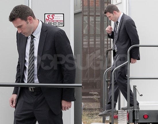 Pictures of Ben Affleck Doing Reshoots For The Company Men