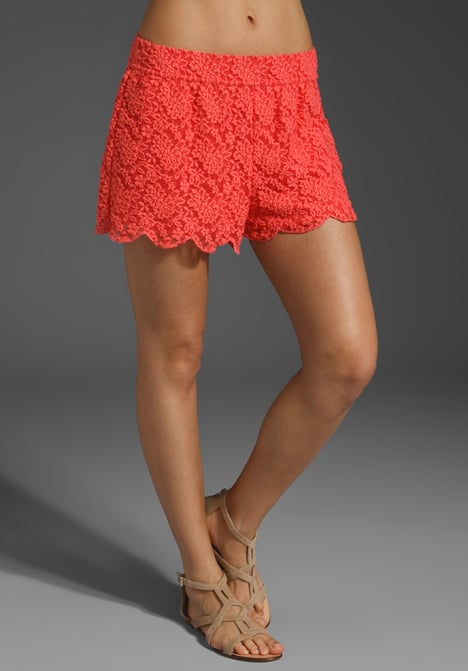 Sweet lace shorts in an awesome shade of coral.  Free People Scallop Lace Short ($78)