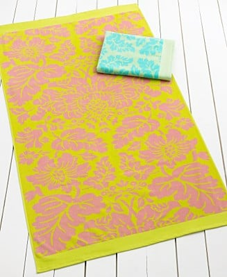 Martha Stewart Collection Damask Beach Towel