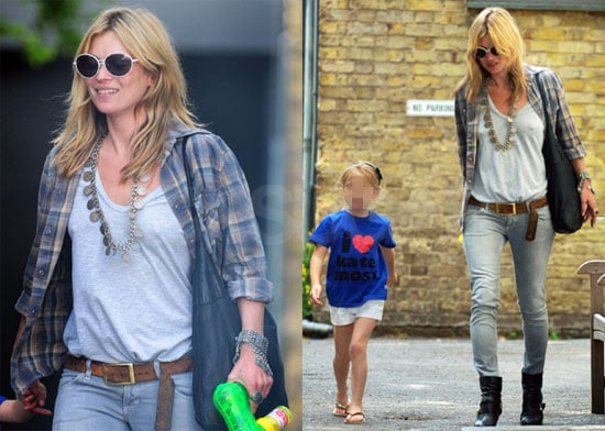 "Photos of Kate Moss and Lila Hack in an ""I Love Kate Moss"" Tee-Shirt"