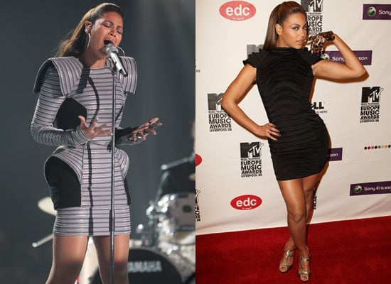 Beyonce Wears Two Different Gareth Pugh Dresses at 2008 MTV EMAs
