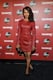 Kerry Washington wore a red dress on the black carpet.