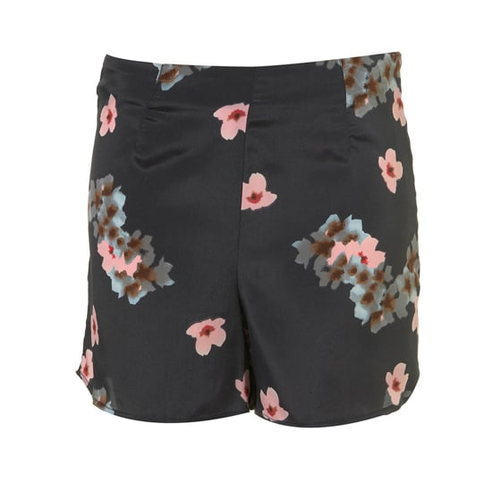 """Topshop Black Blossom Print Shorts, $66   Pair with:   <iframe src=""""http://widget.shopstyle.com/widget?pid=uid5121-1693761-41&look=3445527&width=3&height=3&layouttype=0&border=0&footer=0"""" frameborder=""""0"""" height=""""244"""" scrolling=""""no"""" width=""""286""""></iframe>"""