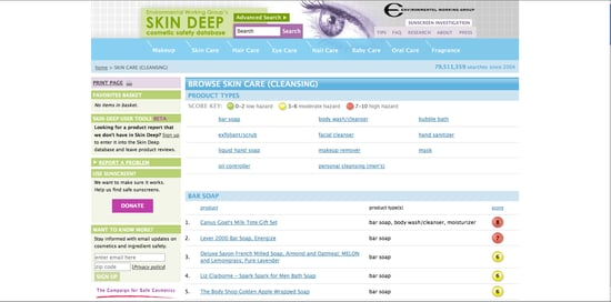 The Environmental Working Group's Skin Deep Cosmetic Safety Database