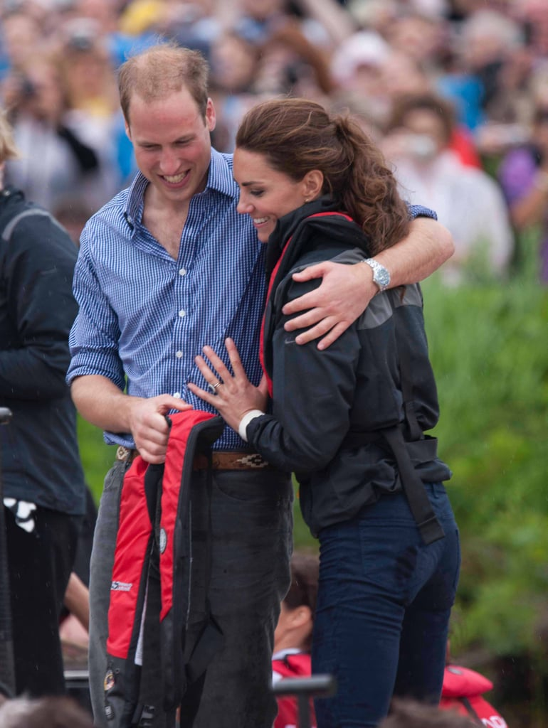 "April 11: Will and Kate's Sailing Race The group will fly to Auckland, where they will have an ""informal"" meeting with families and service personnel who are stationed at the RNZAF base at Whenuapai.  After the base visit, the real fun starts, as the duke and duchess will travel to the Emirates Team New Zealand base to meet with the country's world-class sailing team and take part in an ""informal"" race against one another. William's private secretary noted, ""As everyone probably knows, however, the duke and duchess are just a little competitive."" What we'll take away from that is watch out, Will!  The two are no strangers to racing on the water during these types of visits. Back in 2011, Kate and Will competed against one another in a dragon boat race on Prince Edward Island during a tour of Canada (pictured). Will won that time, so competitive Kate may be looking forward to redeeming herself in New Zealand.   After the race, the two will take a spin on Sealegs, a boat that can drive on dry land and in the water. The two will then return to Wellington via the  RNZAF base. April 13: Wine and White-Water Rafting Following a trip to Hamilton and Cambridge in the previous day, the couple will leave George behind for a two-day tour of Dunedin, Queenstown, and Christchurch, all on South Island. The two will attend a Palm Sunday service at the Cathedral Church of St. Paul and then visit the stadium to watch a festival of Rippa Rugby, or noncontact rugby. The duke and duchess will each coach a team, and Will's secretary promises, ""We can expect some pretty competitive outbursts.""  The couple will then fly to Queenstown, where they will visit the Amisfield vineyard, one of the locations of New Zealand's growing wine production. After tasting some wine, the couple will then go on a white-water ride through the Shotover River, which will undoubtedly be a good photo op. After their ride, the couple will return to their hotel in the Queenstown area. April 16: Last Day in New Zealand, First Day in Oz The duke and duchess will visit a police academy in Wellington before heading to the airport to catch a flight to Sydney. The family will travel straight to the Sydney Opera House, where they will be given a formal reception by the governor and Premier of New South Wales. Will is slated to give a speech, and then they will travel by boat across Sydney Harbour to Admiralty House, where they will stay with the governor-general. April 20: Easter Sunday After a trip to the Blue Mountains and a visit to Queensland, the couple will attend an Easter service at St Andrew's Cathedral in Sydney and then travel to Taronga Zoo. The Australian government made a donation to the zoos' bilby-preservation program on the occasion of George's birth, so it's not too crazy to think that the little prince may make an appearance at the zoo. The family will visit the bilgy enclosure as well as visit with kangaroos and other indigenous Australian animals.  April 22: A Trip to Uluru The couple will leave George in Canberra to travel to Uluru, or Ayers Rock, in the Outback. They've been looking forward to visiting the natural wonder and meeting with the indigenous people in the area. According to William's secretary, it will be ""a special moment"" for the couple. Afterward, they will stay in the area before flying to Adelaide in South Australia the following day. Source: Samir Hussein/Getty"