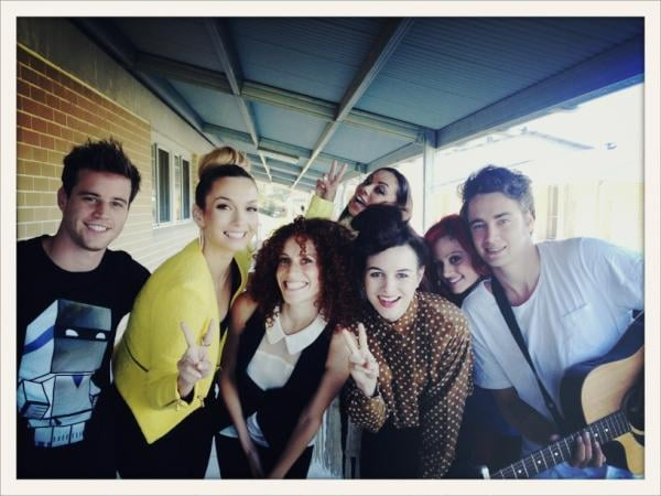 Ricki-Lee took a photo while on set for The Voice with Team Joel.
