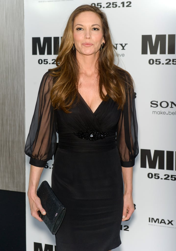 Diane Lane wore a black dress to the Men in Black III premiere in NYC.