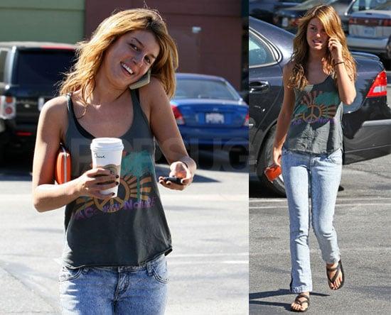 Photos of Shenae Grimes at Starbucks at Long Beach