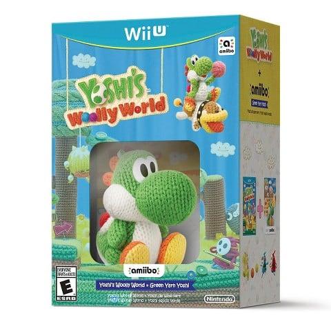 Yoshi's Woolly World and Green Yarn Yoshi amiibo for Wii U