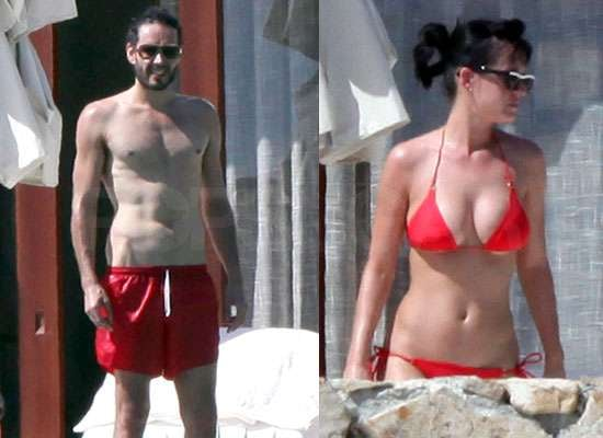 Photos Of Katy Perry In Bikini And Shirtless Russell Brand On Holiday In Mexico Popsugar