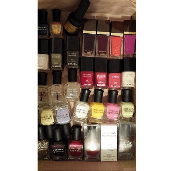 Lupita Nyong'o packed her award season essentials. We think she likes nail polish. Source: Instagram user lupitanyongo