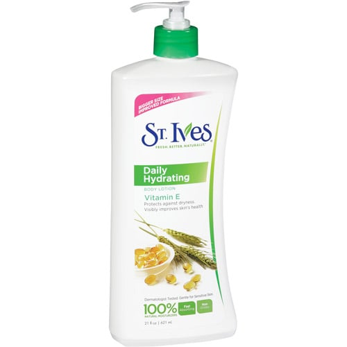 For ladies with sensitive skin, St. Ives Daily Hydrating Lotion ($6) is just what the doctor ordered — it's hypoallergenic!