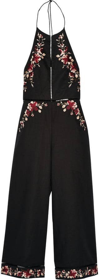 Zimmermann Sakura Embroidered Linen and Cotton-Blend Jumpsuit ($530)