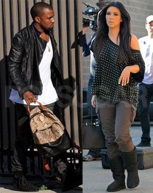Photos of Kim Kardashian and Kanye West