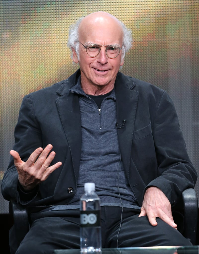 Larry David was in attendance to talk at HBO's Clear History panel.