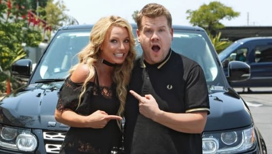 Britney Spears promotes new album, Glory, on Carpool Karaoke with James Corden