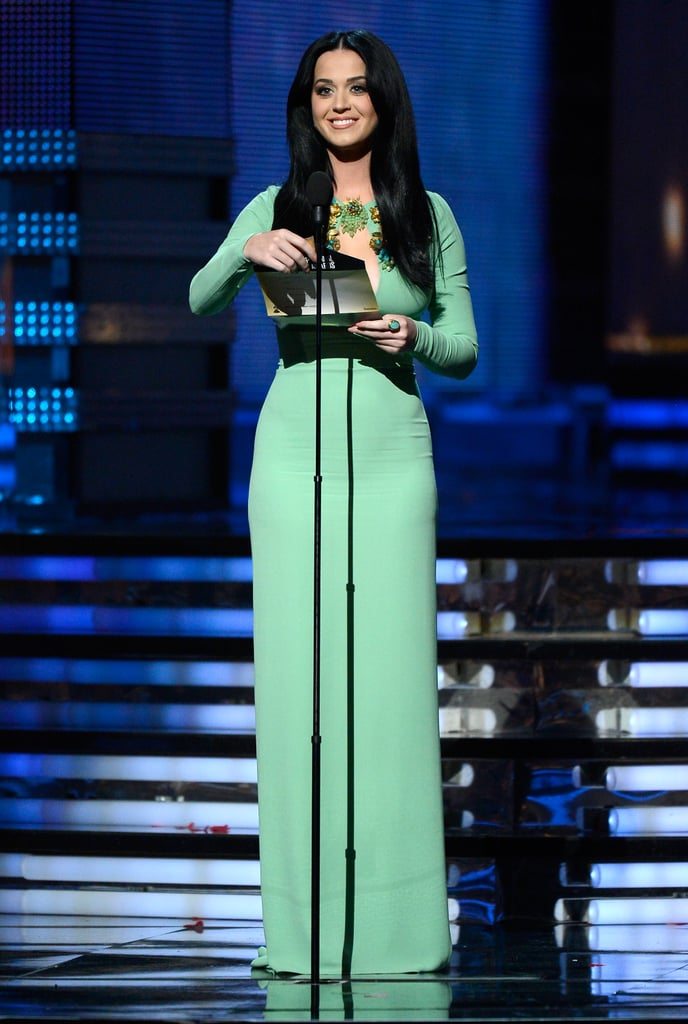 Katy Perry presented at the Grammys.
