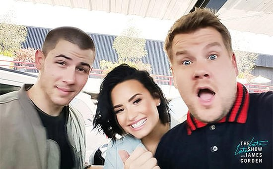 FROM EW: Carpool Karaoke - Nick Jonas and Demi Lovato to Ride with James Corden