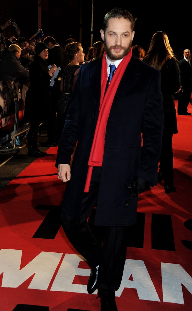 Tom walked the carpet solo before meeting up with his girlfriend for a few photos.